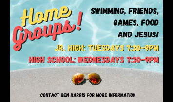 Home Groups for Jr. High!